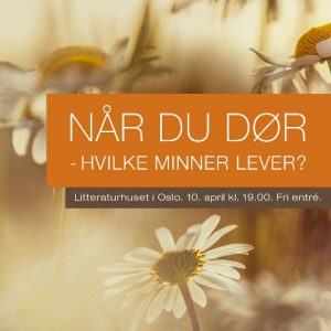 banner for arrangement i litteraturhuset